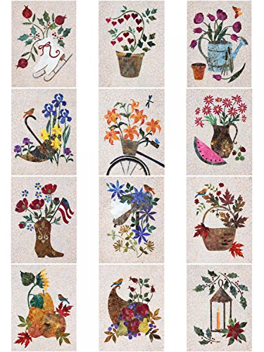 Seasonal Silhouettes Full Set Laser Cut Fusible Applique Kit With Fabric, Sewing ()