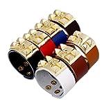 Bishilin New Rivets 20 5Cm3Cm Black Leather Cuff Wrap Bangle Bracelets