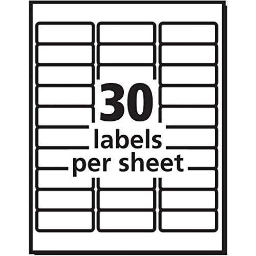 Avery Easy Peel White Mailing Labels for Ink Jet Printers, 1 x 2.62 Inch, Box of 3000 (8460) Photo #9