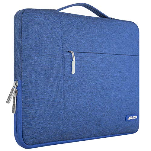 (MOSISO Laptop Briefcase Handbag Compatible 13-13.3 Inch MacBook Air, MacBook Pro, Notebook Computer, Polyester Multifunctional Carrying Sleeve Case Cover Bag, Royal Blue)