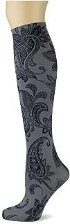 product image for Sox Trot PAISLEY PERFECTION/SMOKE - Printed Nylon Knee-Hi's