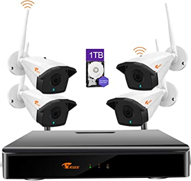 Disco Duro De 2TB CORSEE H.265+ 8 Canales 1080P Kit Camaras Vigilancia WiFi con 8 1080P C/ámaras de Seguridad Visi/ón Nocturna al Aire Libre CCTV C/ámaras 1080P Full HD, con funci/ón de Audio .