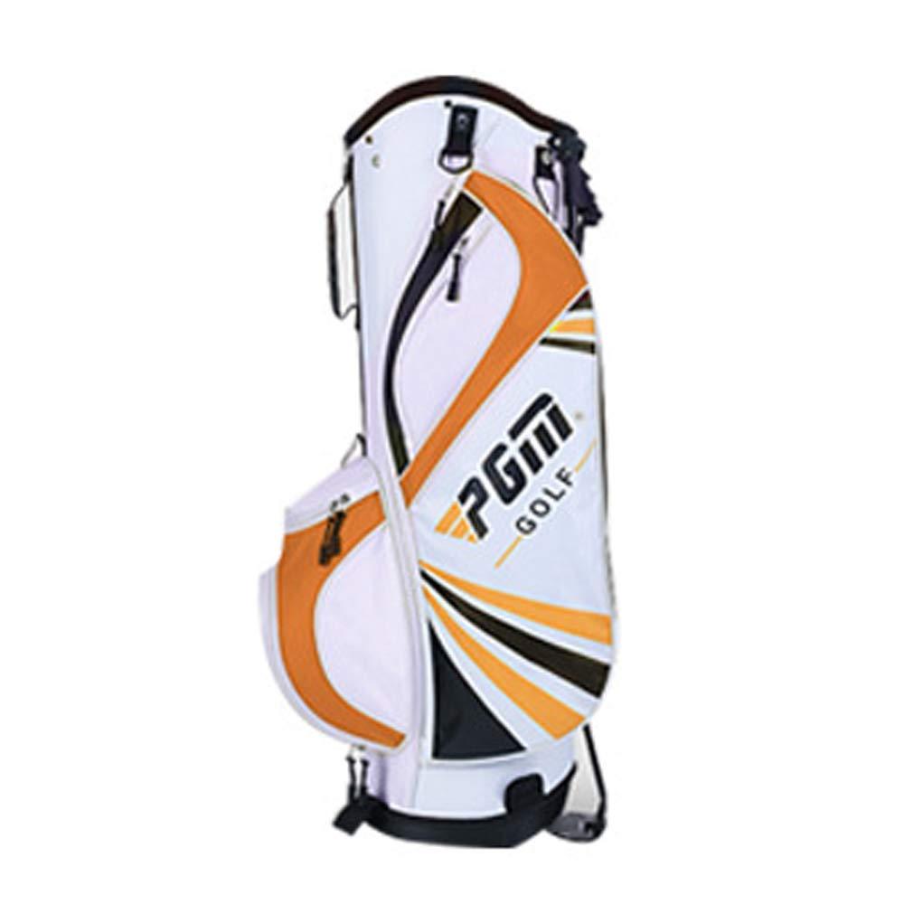 ゴルフクラブバッグスタンドバッグ、男性と女性のクラブは6つの別々のソケットで立ちます。ハンドル付きコースゴルフバッグ、ジュニアゴルフ用品は超軽量ポータブルです B07TDMDFHW orange