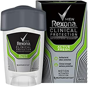 Rexona Clinical Protection Antiperspirant Deodorant, Active Fresh, 45ml
