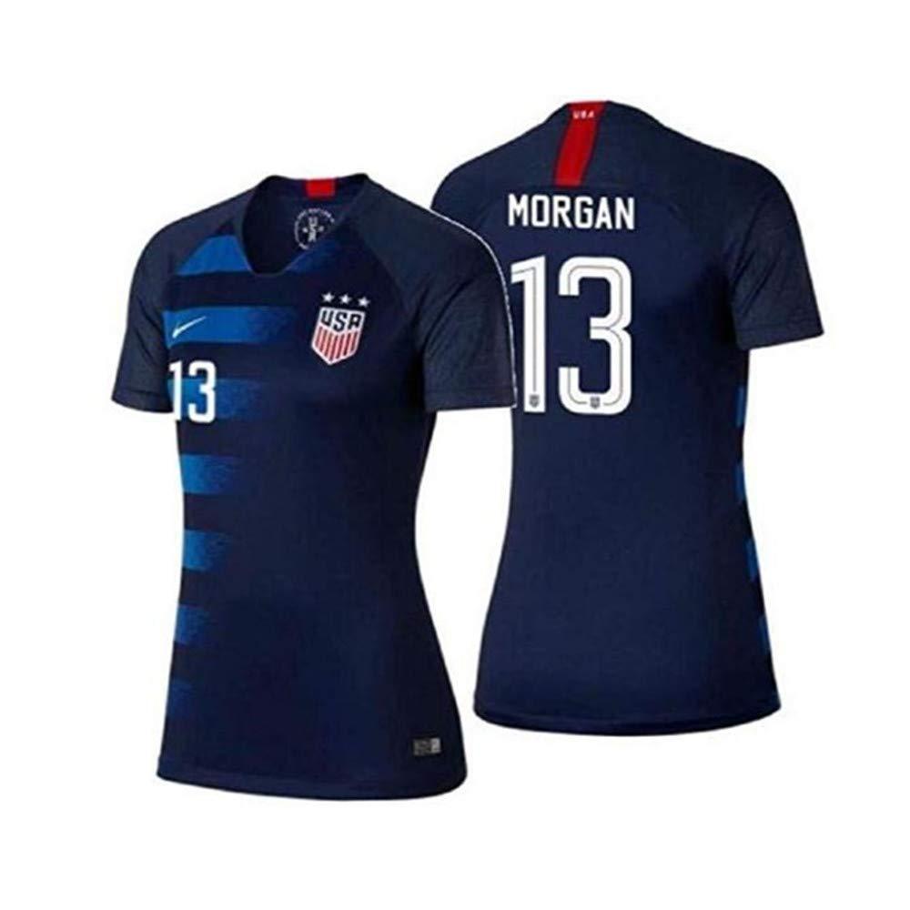 timeless design 094cb 2e011 Amazon.com: New 2019#13 Alex Morgan Blue USA National Womens ...