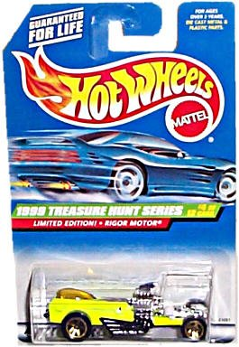 Hot Wheels - Mattel Wheels - Limited Edition Treasure Hunt Series (1999) - Rigor Motor (Lime Green) - #4 of 12 - Collector #932