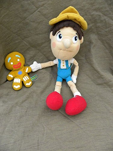 Shrek Pinocchio Plush Doll Gingerbread Man Boy Stuffed Soft Toy Movie Character Dreamworks