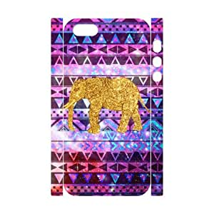 TOSOUL Cell phone Protection Cover 3D Case Elephant Aztec Tribal For Iphone 5,5S