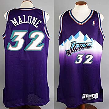 bf828427d0d Image Unavailable. Image not available for. Color: 1999-00 Karl Malone Game-Worn  Jersey Jazz - COA 100% Team