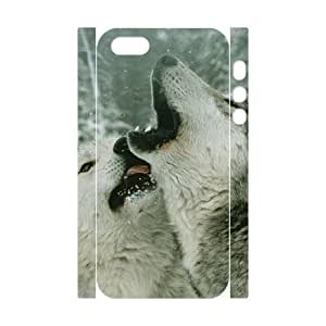 LZHCASE Diy Customized Case Gray Wolf 3D Case for iPhone 5,5S [Pattern-1]