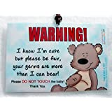 Do Not Touch The Baby 6 x 4 inch Laminated Baby Tag by Cold Snap Studio, More Than I Can Bear - Handmade in The USA!
