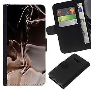 Planetar® Modelo colorido cuero carpeta tirón caso cubierta piel Holster Funda protección Para Samsung Galaxy Core Prime / SM-G360 ( Abstract )