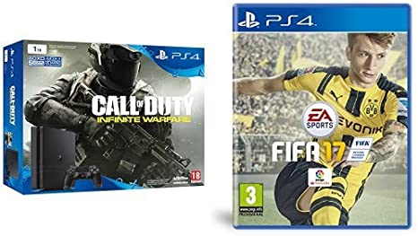 PlayStation 4 Slim (PS4) 1TB - Consola + COD: Infinity Warfare + FIFA 17: Amazon.es: Videojuegos