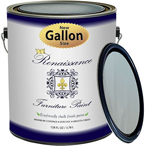 Price comparison product image Renaissance Chalk Finish Paint - Celadonite - Gallon (128oz) - Chalk Furniture & Cabinet Paint - Non Toxic,  Eco-Friendly,  Any Color from Any Major Brand