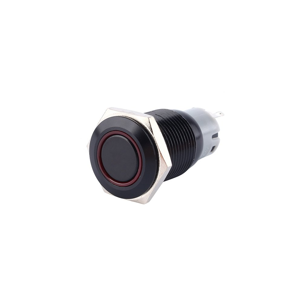 16mm 12V Car Power Push Button Switch Waterproof LED Push Button Switch ON-OFF for Car SUV Van RV Boat Yatch Truck Keenso