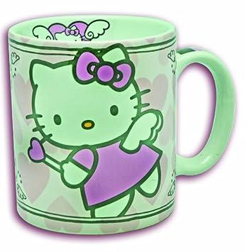 HELLO KITTY GLAS TASSE BECHER 2X
