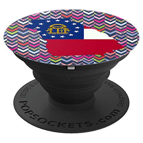 State of Georgia Flag Silhouette Pretty Girl Arrow Gift - PopSockets Grip and Stand for Phones and ()
