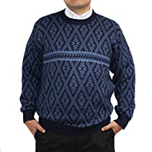 Sweater baby alpaca and blend Navy Blue jack rombo made in PERU