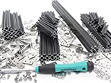 MakerBeam Regular Starter Kit Black anodized including beams, brackets, nuts and bolts