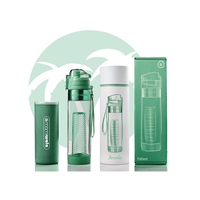 103f062cbe MAMI WATA Fruit Infuser Water Bottle – Beautiful gift box – Unique ...