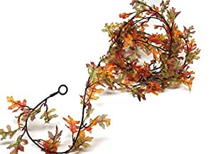 Fall Garland with Mini Leaves - Autumn Garland - Ideal for Autumn Home Decor and Crafting, 9-Feet