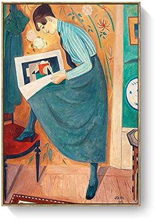 Nicho de estilo nórdico literario retro azul falda chica carácter ...