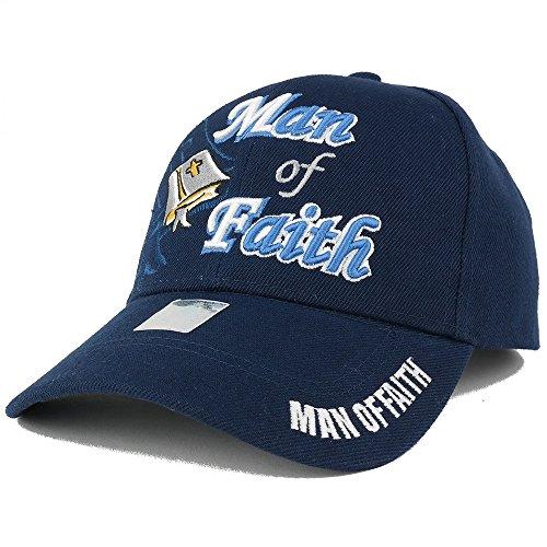 Trendy Apparel Shop Man Of Faith Embroidered Christian Theme Adjustable Baseball Cap