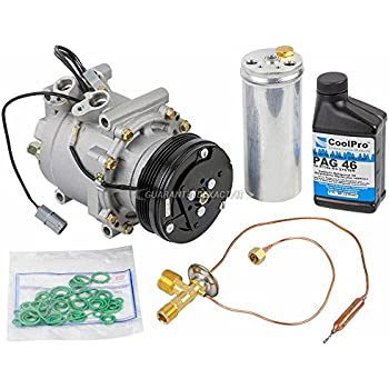AC Compressor w/A/C Repair Kit For Honda Civic and CR-V - BuyAutoParts 60-80103RK New