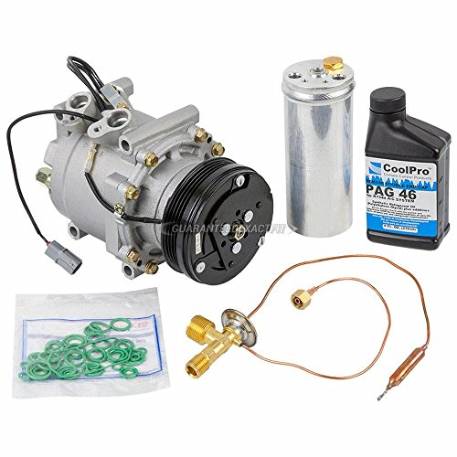 (AC Compressor w/A/C Repair Kit For Honda Civic and CR-V - BuyAutoParts 60-80103RK New)