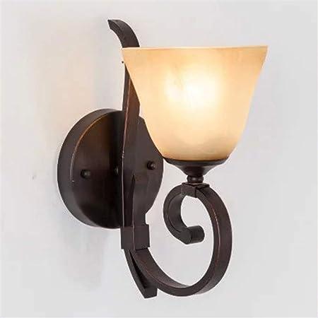 Qiming-home Aplique de la Pared Lámpara de Pared Americana Luz de Pared Europea Simple Estilo mediterráneo Pasillo Escalera Apliques de luz de Pared para Sala de Estar Dormitorio de Pared Dormitorio: Amazon.es: