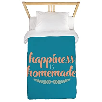 Amazon.com: CafePress Happiness is Homemade Twin Duvet Cover, Printed Comforter Cover, Unique Bedding, Microfiber: Home & Kitchen
