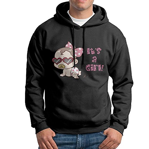 XiaoTing Men's Cute Baby Girl Baby Shower Fashion Travel Black Fleece - America Syracuse Store Ny