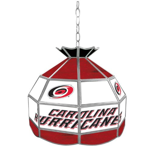 NHL Carolina Hurricanes Tiffany Gameroom Lamp, 16'' by Trademark Gameroom