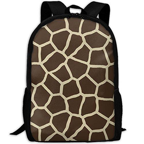 Backpack, Travel Hiking Lightweight Mens Womens Unisex Computer Gaming Laptop Shoulder Outdoor Canvas Backpack, Giraffe Print, Shoulder Bag Backpacks For Men Women Adults