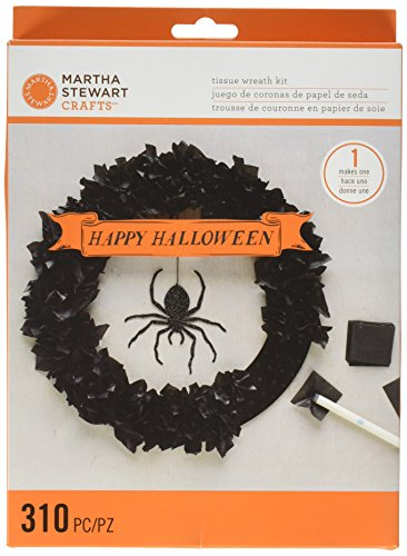 Martha Stewart Crafts Spooky Night Tissue Wreath Kit, 48-20413