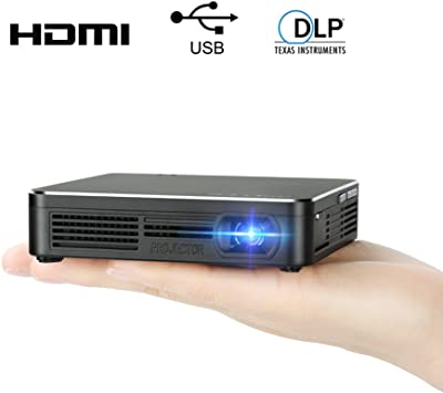 Pocket Portable DLP 1080p Projector 100 Lumens High Contrast Ratio LED Light Output Pico Video Projector 120 Inch Picture Mini Mobile Projector with ...
