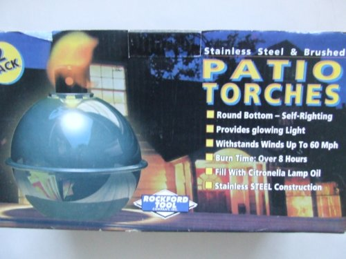 Rockford Stainless Steel Patio Torches  2 Pack
