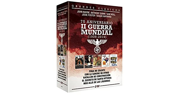 75 Aniversario II Guerra Mundial 5 DVD - Fuga de Colditz + Con la Sangre de otros + Batallon de construcci?n + El secreto de Santa Vittoria + Mas alla de las