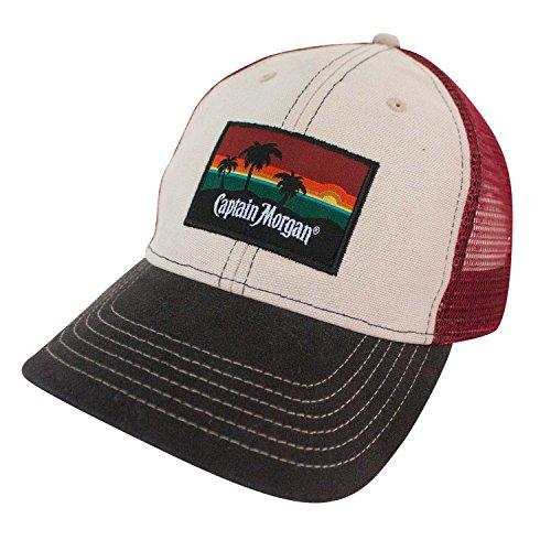 Morgan Mens Hat - Captain Morgan Beach Side Mesh Snapback Hat