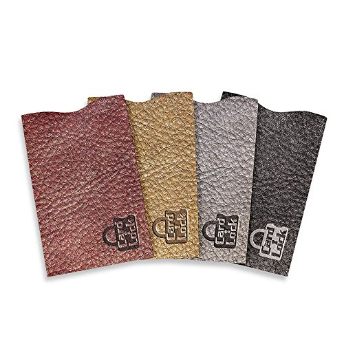 Card Lock RFID Protection Sleeves, Leather Print - As Seen On TV Photo #4
