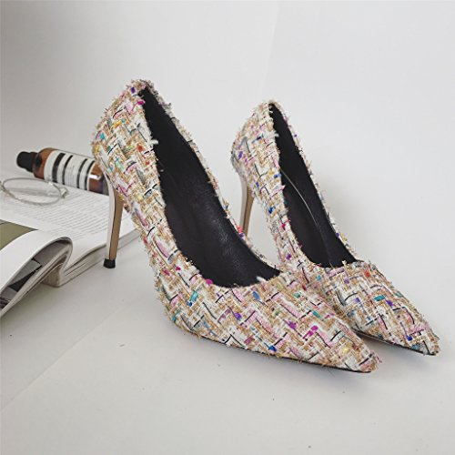 Shoes Pointed Shoes Autumn GTVERNH Girls And And Sharp Thirty Thin seven Single Knitting Temperamental Winter t4a8q