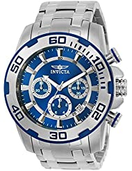 Invicta Men's 'Pro Diver' Quartz Stainless Steel Casual Watch, Color:Silver-Toned (Model: 22319)