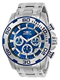 invicta white dial men - Invicta Men's 'Pro Diver' Quartz Stainless Steel Casual Watch, Color:Silver-Toned (Model: 22319)