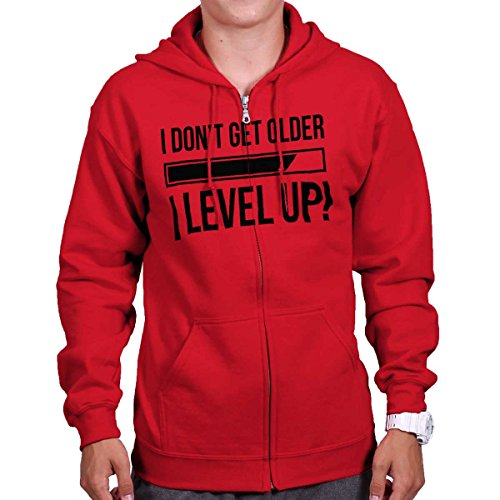 Brisco Brands Dont Get Older Level Up Funny Shirt Pc Gamer Gaming Gift Cool Zipper Hoodie