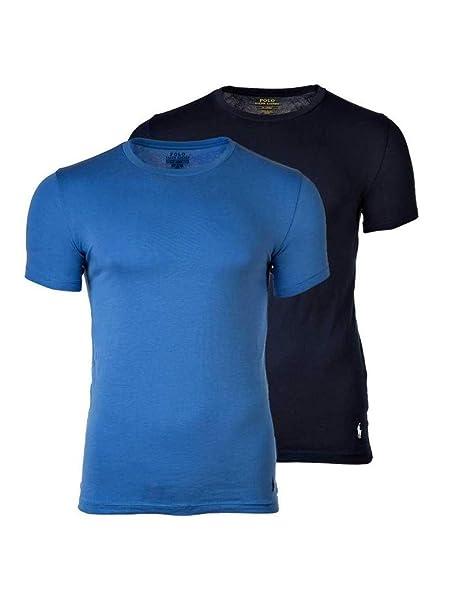 POLO RALPH LAUREN Pack de 2 hombres camisetas, cuello redondo, media manga - Azul