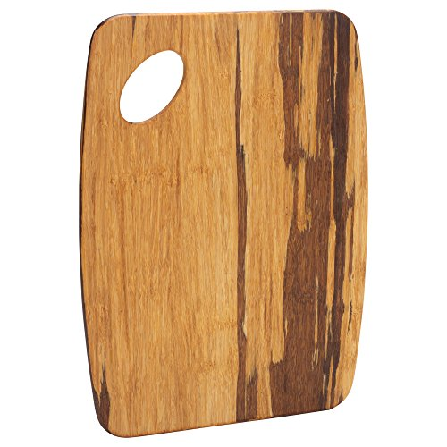 9x12 Board Small Cutting - Woodgrain Bamboo 9 x 12 Inch Wood Cutting Board with Cutout Handle