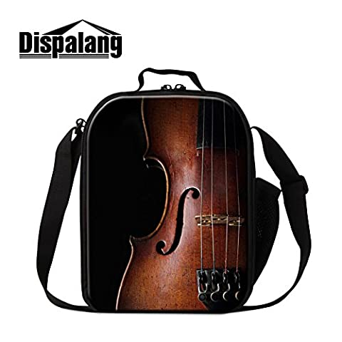 Dispalang Violin Print Lunch Bags for Boys Girls Art Insulated Lunch Box Bags Small Kids Lunch (Violins For Girls)