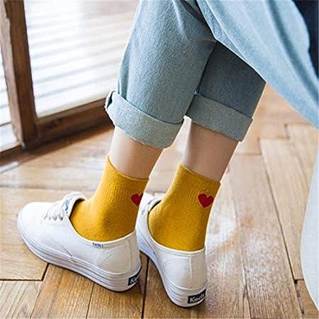 Calcetines de algodón de Tubo Medio Calcetines de algodón corazón ...