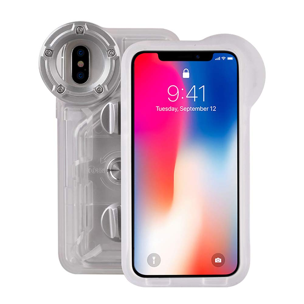 Underwater Photography Waterproof Phone Case Pouch for iPhone X/XS Enhanced Underwater Cell Phone Dry Bag with Armband O Lens Ring Full Sealed Waterproof Case IPX8 Certified by MEIKON