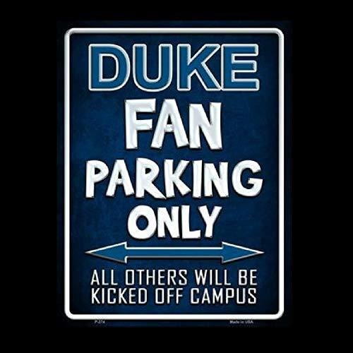 Brsh Duke Blue Devils Fan Parking Only ノベルティ メタル パーキング サイン アルミニウム サイン   B07PXSCFNL